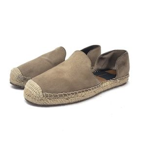 Dolce Vita Tan D'Orsay Espadrille Slip On Loafers